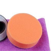 100mm直径复布海绵圆饼擦 橘色多功能清洁除灰皮具专用圆盘
