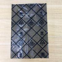 精密电子元器件专用半透明PE黑色网格袋 外导电内抗防静电