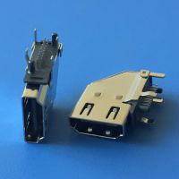 HDMI侧插母座 19P-90度侧立式插板弯脚DIP HDMI高清音频插座 侧立式插座HDMI