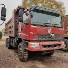 出售多台二手欧曼后八轮拉土自卸车,山西忻州供应