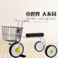 童车无印款简约三轮车儿童脚踏车
