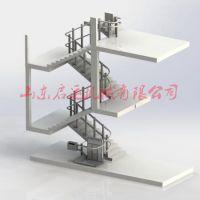 楼道座椅电梯 斜挂式残疾人升降机徐州市厂家供应液压升降机 启运机械