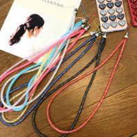 韩国时尚糖果色水晶水钻手机壳挂绳挂脖 挂件材料DIY饰品配件挂饰