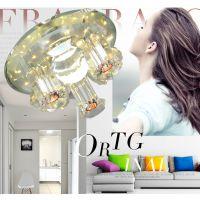 LED水晶走廊灯水晶现代简约吸顶过道灯