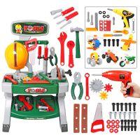 儿童过家家玩具套装小小工程师多功能仿真维修工具台工作台带电钻