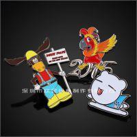 创意可爱卡通动漫金属珐琅纪念徽章动物锌合金饰品促销礼品公司