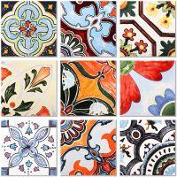 北欧复古花片仿手绘花砖300客厅餐厅阳台厨房卫生间仿古地砖瓷砖