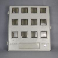 供应玻璃钢电表箱平门透明小开门双开门1 2 3 4 6 8 12户玻璃钢防切电电表箱