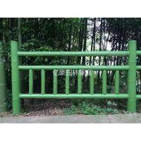 清新连州佛冈水泥混凝土仿石仿竹栏杆,河道池塘公园护栏围栏安装
