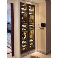 售楼部常温不锈钢红酒柜红酒架佛山不锈钢恒温酒柜装饰柜厂家定制