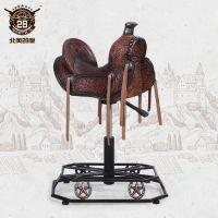 美式复古铁艺家具 创意手工做旧酒吧椅单马鞍椅子各类家具可定制