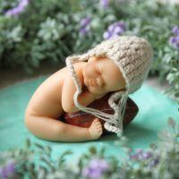 jsh可爱拇指娃娃装饰品仿真婴儿玩具迷你宝宝创意欧式客厅酒柜小