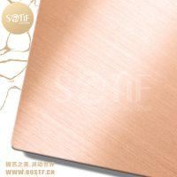 佛山深加工门厂常用款304不锈钢玫瑰金拉丝板