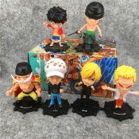 日本动漫 海贼王系列 路飞 全6款 彩色盲盒装娃娃机台公仔 摆饰