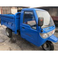 工地专用电动柴油自卸三轮车拉砖拉沙土石子 农用三开门柴油三轮车