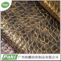 现货供应 PU人造革 高档手袋箱包皮革面料 鳄鱼纹