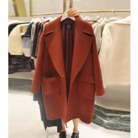 便宜库存呢子外套韩版时尚中长款呢子大衣清货杭州尾货批发市场