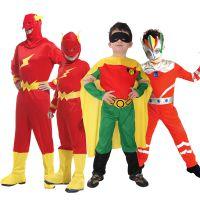 J万圣节闪电侠表演服装 Cosplay蝙蝠侠衣服 万圣节旦旦超人服饰男