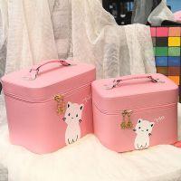 化妆包大容量女旅行小号便携手提化妆箱迷你可爱化妆品收纳盒