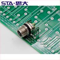 思大PCB板插座M8-D-8防水IP67连接器Z-ESW 31FH0500