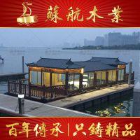 厂家定制大型餐饮画舫船水上餐厅船水上宾馆电动观光船旅游船