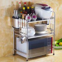 厨房置物架电饭锅搁物架微波炉架不锈钢烤箱架厨房2 3 4 5层架子