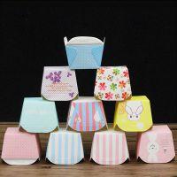 北海道包邮2/3/4粒戚风包装盒马芬纸盒杯子方形纸杯开窗烘焙蛋糕