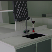 埃曼苛环氧树脂台面,水槽台台面,拼缝少,韧性好,耐强腐蚀,耐高温,安全环保