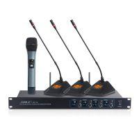 新款狮乐无线麦克风狮乐一拖四SH15会议培训演出家用K歌话筒KTV扩音器套装无线话筒