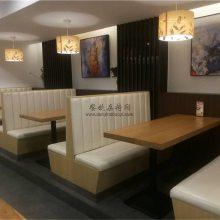 自贡日式料理店卡座沙发桌子定做,日本寿司店家具定制