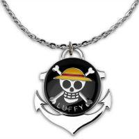 海贼王骷髅头项链动漫太阳号转动项链挂坠路飞钥匙扣周边