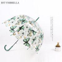 RST外贸出口彩色蝴蝶透明环保加厚阿波罗鸟笼雨伞