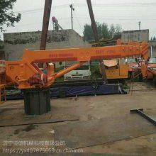 岳阳县驳船甲板起重机厂家 5吨小型船用吊机价格 亚信生产 渔船吊厂家定制