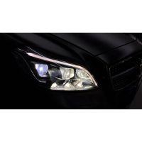 汽车改灯-奔驰改灯-CLS300改造奔驰CLS400多光束几何LED大灯