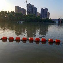 水库核心区拦截浮标 水源地拦污拦船用塑料浮桶