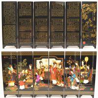 漆器小屏风十二金钗办公书桌书房室内摆件装饰 中国风特色工艺品