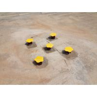 小区广场公园健身器材梅花桩实拍案例展示图