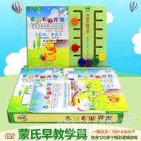 蒙氏数学 幼儿童左脑右脑开发逻辑早教书 家庭版思维训练益智玩具