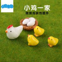 DIY手工沙盘模型微景观杂货造景装饰素材配件小鸡一家多肉摆件