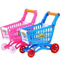 儿童手推塑料仿真迷你超市购物车宝宝趣味学步小推车玩具批发