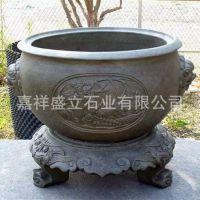 供应仿古做旧石雕花盆 庭院花盆鱼缸 中式欧式花盆花钵