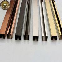 地板T型嵌条背景墙不锈钢嵌条木门不锈钢收边条压条