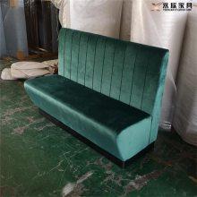 长条布艺卡座沙发定做,绒布软包休闲沙发厂家