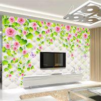 现代简约3D大型电视背景墙装饰壁画 沙发卧室床头壁纸壁布