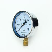 径向耐震压力表100表面YN-100螺纹连接液压压力表充油表