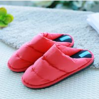 新款  韩式情侣棉拖鞋休闲羽绒男女室内外棉鞋防滑保暖拖鞋 批发
