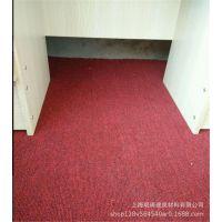 普通常用的厂房车间用酒红防火地毯阻燃耐磨耐脏铺装上海批发5mm