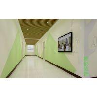 合肥教育机构装修设计,鲜艳而温柔的亮色