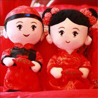新款毛绒玩具婚庆娃娃厂家专业设计打版可来图来样OEM加工