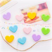 日系软妹粉色爱心小夹子 可爱少女心塑料照片装饰夹 文件夹 道具